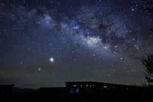 阿里山車站外星空