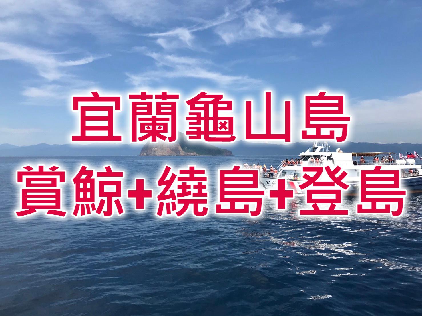 🐳【2021龜山島登島】宜蘭賞鯨豚一日遊 三合一賞鯨繞島登島船票+台北⇔烏石港車票(ILN53)